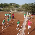 Volleyball Match between Ravikar & Dinkar House