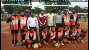 U-14 Boys Vollyball Team bagged 1st place at Division Level