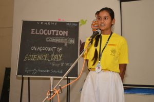 Elocution Competition on account of National Science Day