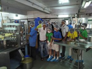 "Field Visit of Std VII at ""Fresho Ice Cream Company"""