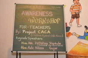 Awareness  Workshop for Teachers – By Project CACA